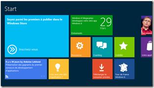 Accélérateur Windows 8